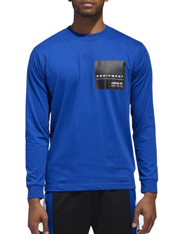 ADIDAS Eqt Long Sleeve T-Shirt Blue - DH5229 - 1
