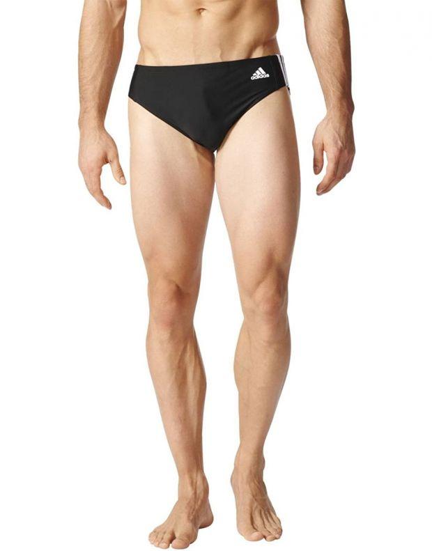 ADIDAS Fitness 3-Stripes Swim Trunks Black - BP9481 - 1