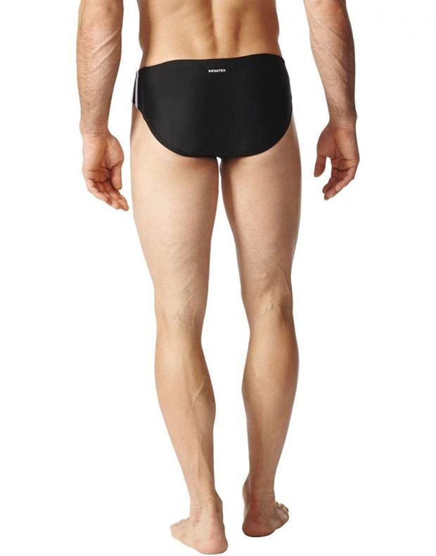 ADIDAS Fitness 3-Stripes Swim Trunks Black - BP9481 - 2