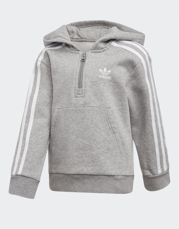 ADIDAS Fleece Hoodie Set Grey - DV2843 - 2