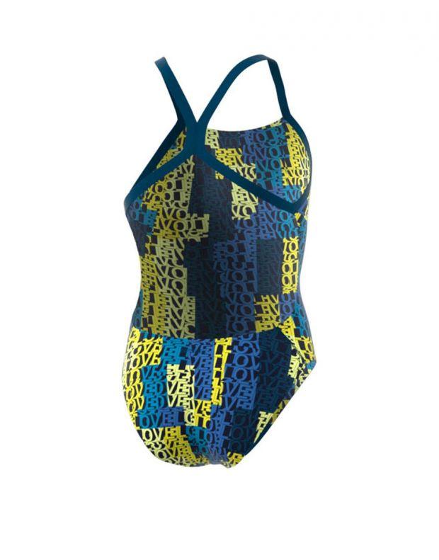 ADIDAS Girls Pro Light Graphic Swim Suit Multi - DQ3300 - 2