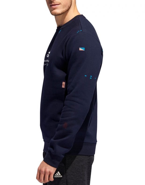 ADIDAS Global Citizens Crew Sweatshirt Navy - ED8322 - 3