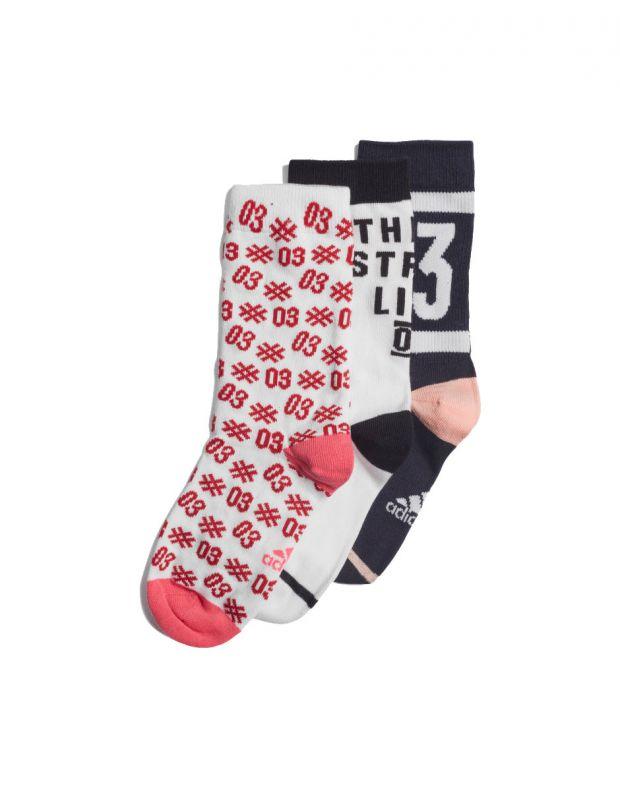 ADIDAS Graphic Socks 3 Pairs Pink - EI6181 - 1