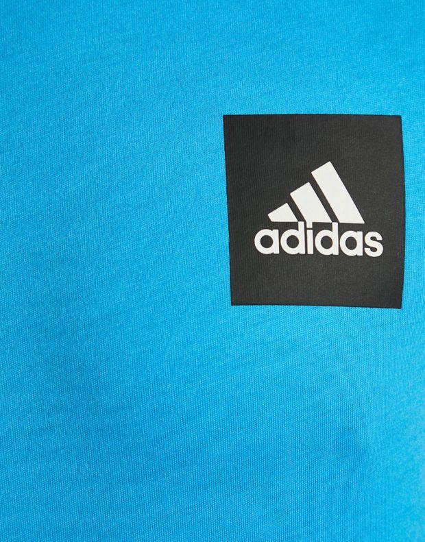 ADIDAS ID 3-Stripes Tee Blue - DU1124 - 4