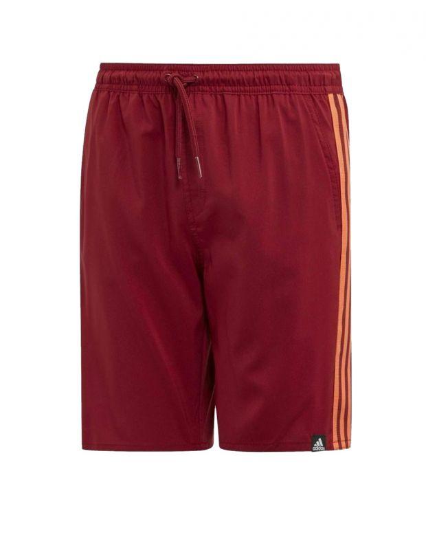 ADIDAS Kids 3-Stripes Swim Shorts Bordo - DY6424 - 1