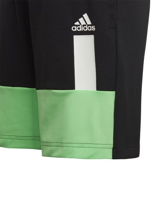 ADIDAS Kids Colour Block Shorts Black - DV1372 - 2