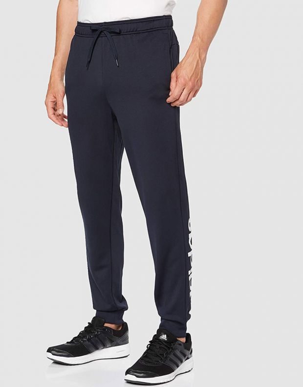 ADIDAS Linear French Terry Hoodie Tracksuit Navy - DV2450 - 3