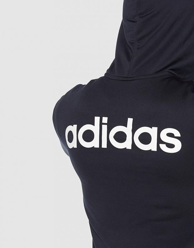 ADIDAS Linear French Terry Hoodie Tracksuit Navy - DV2450 - 5