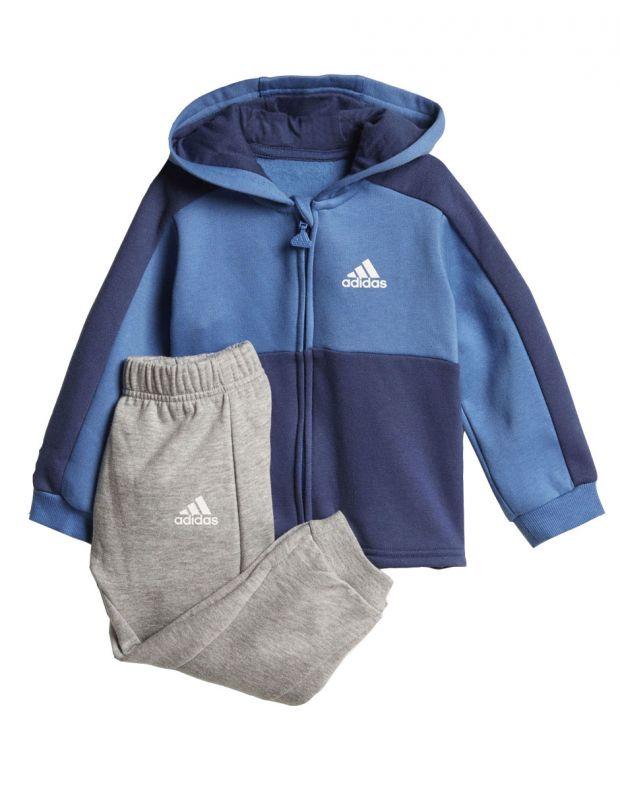 ADIDAS Linear Hoodie Fleece Jogger Blue - CF7404 - 1