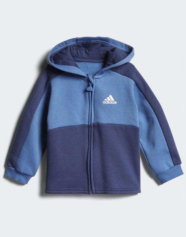 ADIDAS Linear Hoodie Fleece Jogger Blue - CF7404 - 2