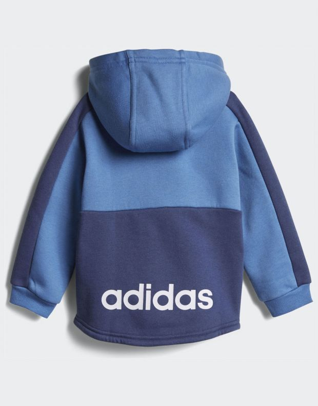 ADIDAS Linear Hoodie Fleece Jogger Blue - CF7404 - 3