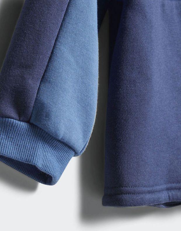 ADIDAS Linear Hoodie Fleece Jogger Blue - CF7404 - 7