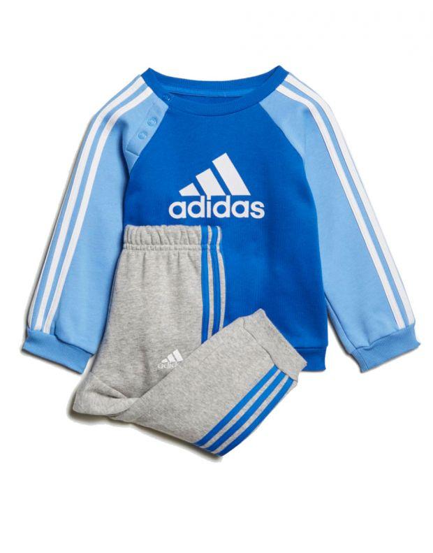 ADIDAS Logo Fleece Jogger Set Blue - ED1159 - 1