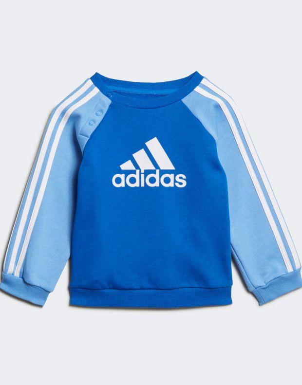 ADIDAS Logo Fleece Jogger Set Blue - ED1159 - 2