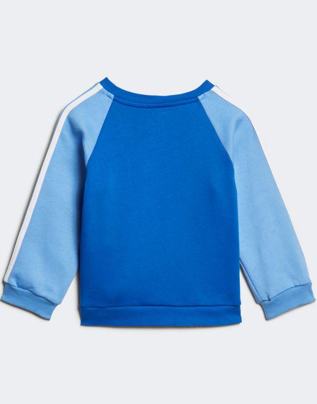 ADIDAS Logo Fleece Jogger Set Blue - ED1159 - 3