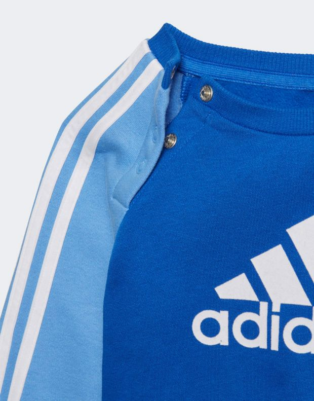 ADIDAS Logo Fleece Jogger Set Blue - ED1159 - 6