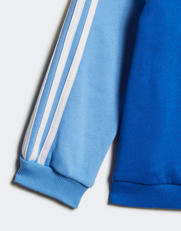 ADIDAS Logo Fleece Jogger Set Blue - ED1159 - 7