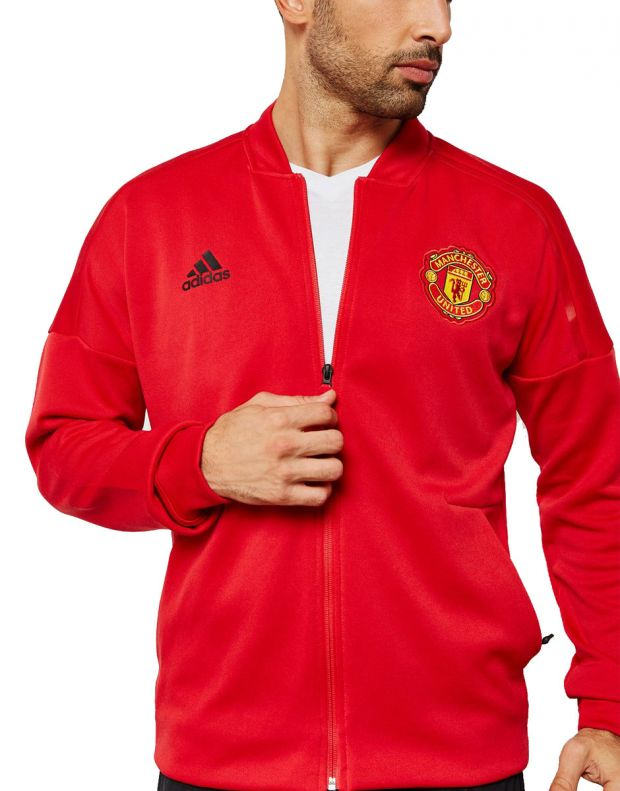 ADIDAS Mancherster United Z.N.E Hoodie Red - CW7670 - 1