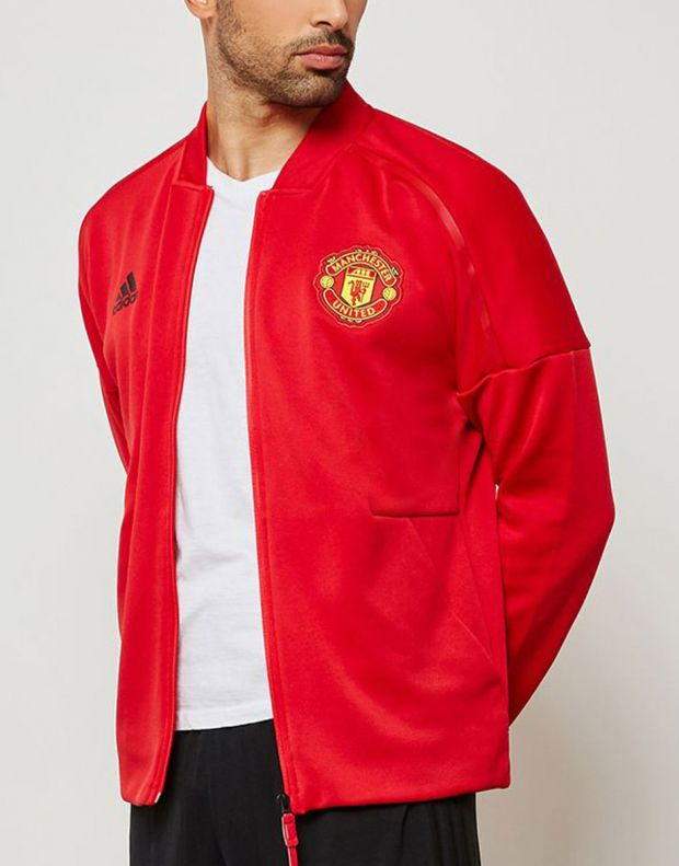ADIDAS Mancherster United Z.N.E Hoodie Red - CW7670 - 3
