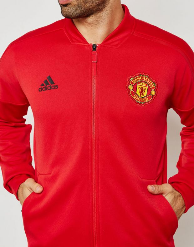 ADIDAS Mancherster United Z.N.E Hoodie Red - CW7670 - 4