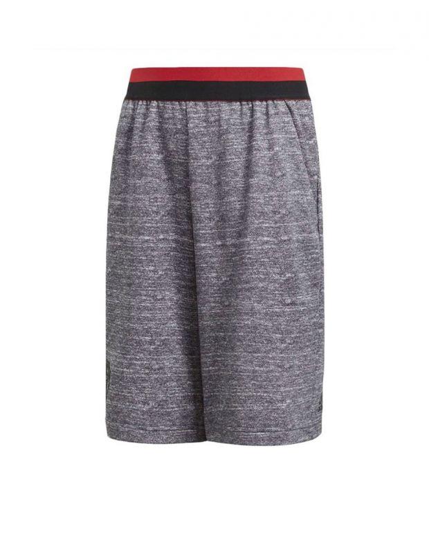 ADIDAS Manchester United Knit Kids Shorts Grey - CV6187 - 1