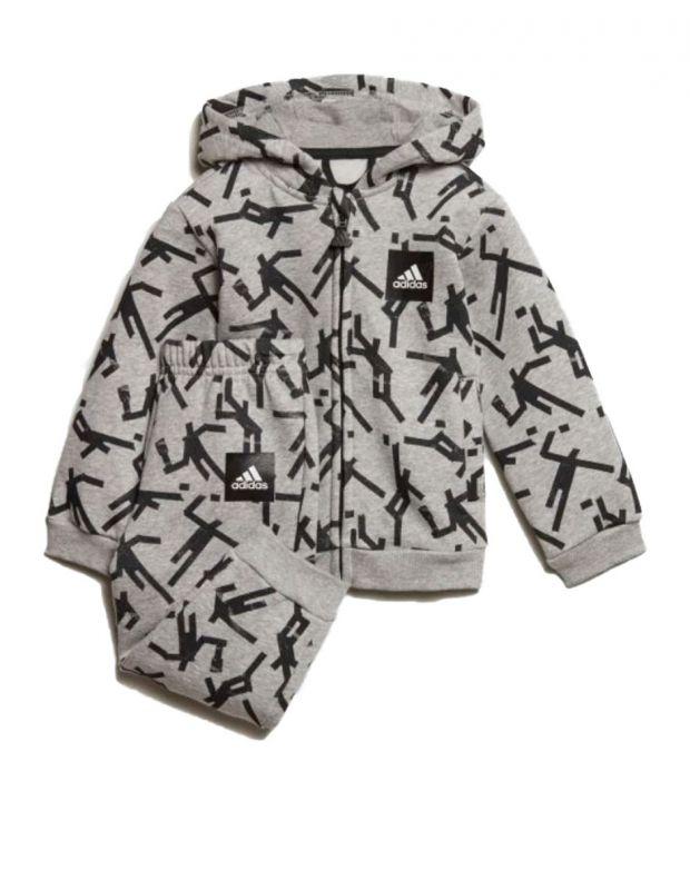 ADIDAS Mini Me Id Hooded Jogger Set Grey - ED1177 - 1