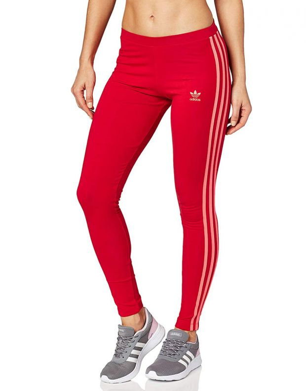 ADIDAS Originals 3-Stripes Leggings Red - ED7577 - 1