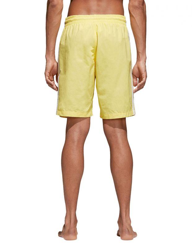 ADIDAS Originals 3-Stripes Shorts Yellow - CW1307 - 2