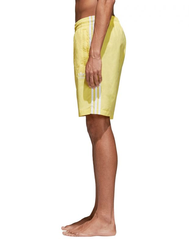 ADIDAS Originals 3-Stripes Shorts Yellow - CW1307 - 3