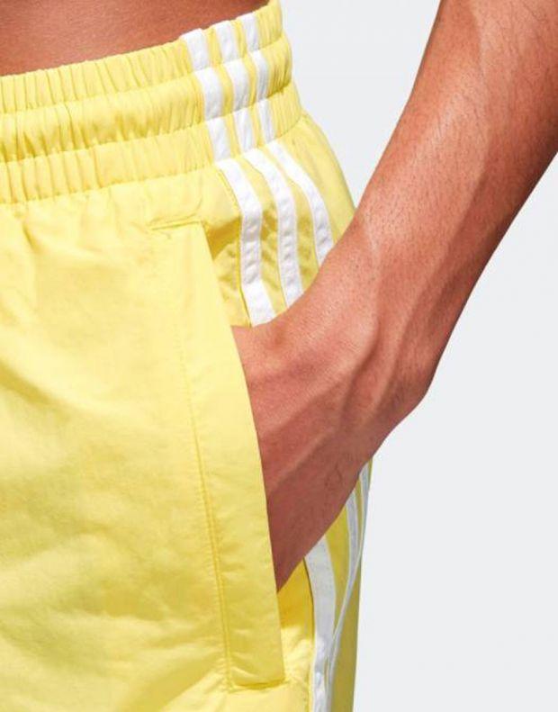 ADIDAS Originals 3-Stripes Shorts Yellow - CW1307 - 4