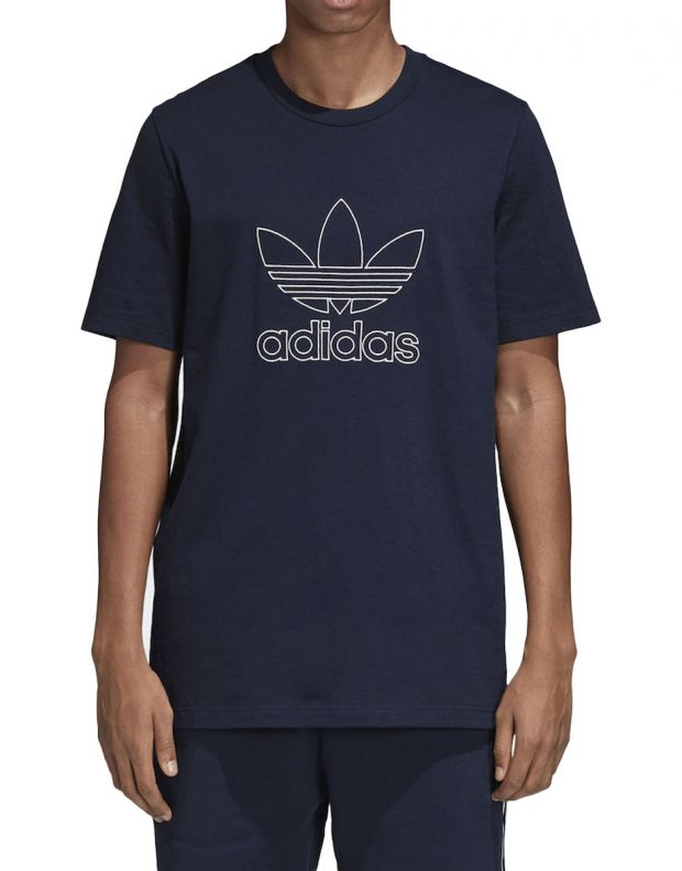 ADIDAS Outline Tee Blue - 1