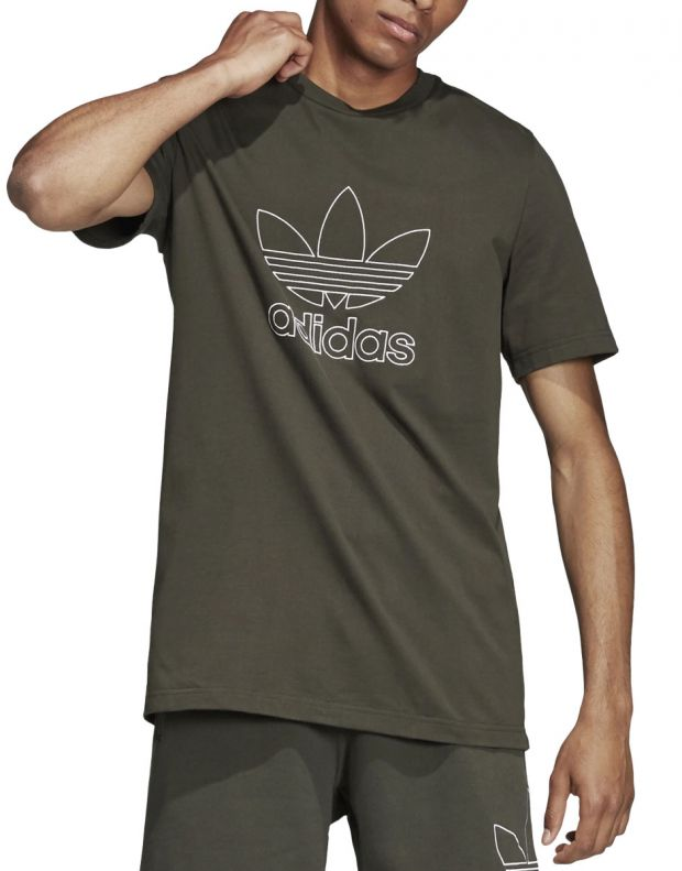 ADIDAS Outline Tee Green - DH5785 - 1