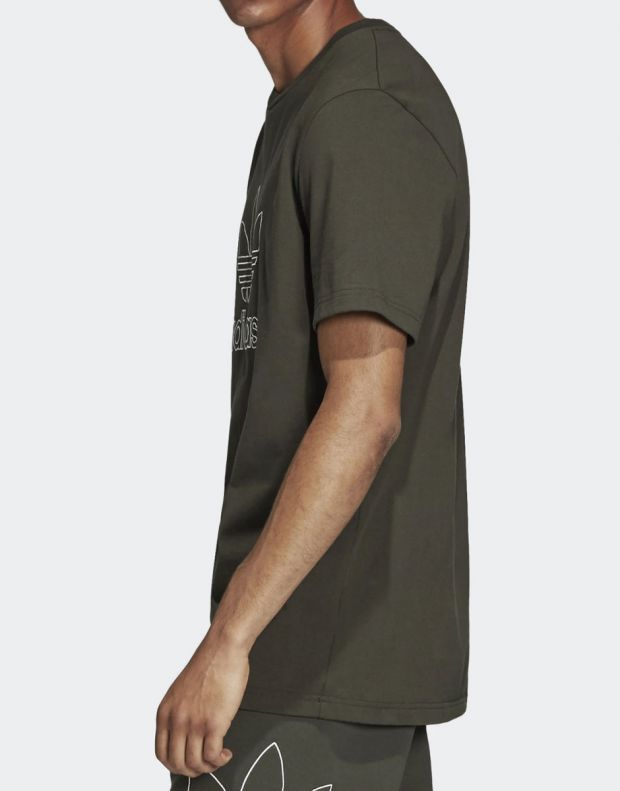 ADIDAS Outline Tee Green - DH5785 - 3