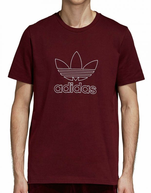 ADIDAS Outline Tee Red - DH5786 - 1