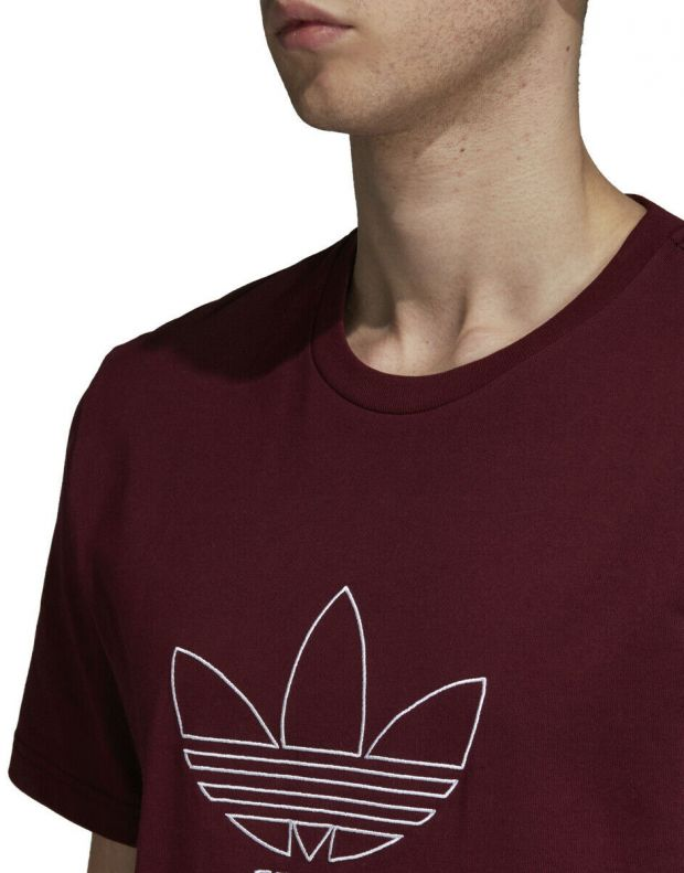 ADIDAS Outline Tee Red - DH5786 - 3