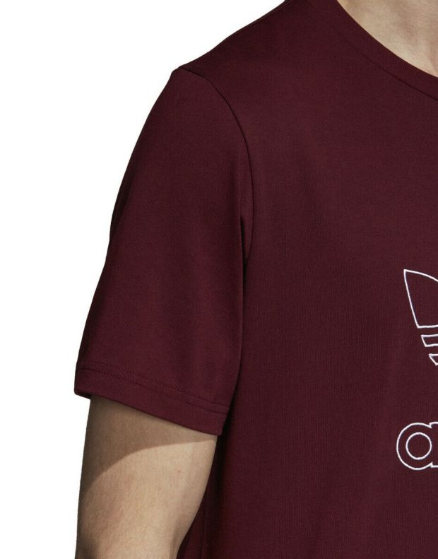 ADIDAS Outline Tee Red - DH5786 - 4