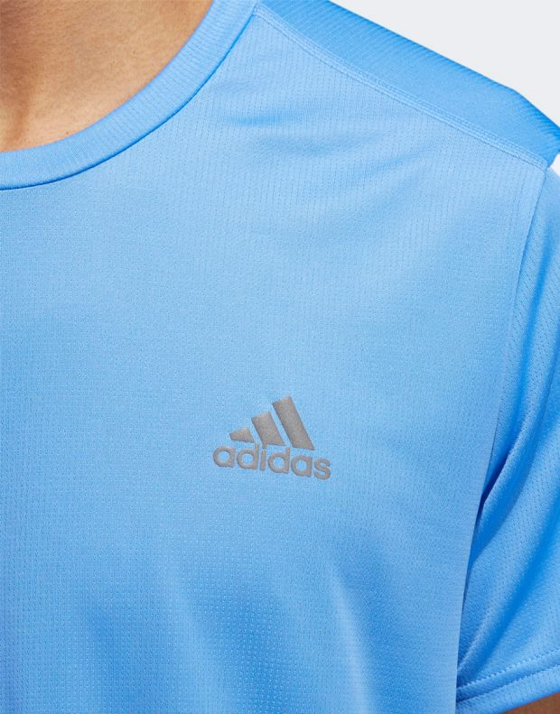 ADIDAS Run It 3-Stripes Tee Blue - EK2857 - 3