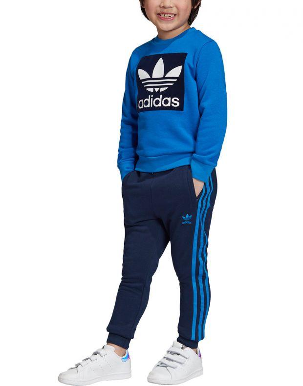 ADIDAS Trefoil Logo Sweatshirt Set Blue - ED7684 - 1