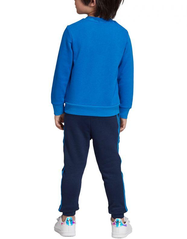 ADIDAS Trefoil Logo Sweatshirt Set Blue - ED7684 - 2