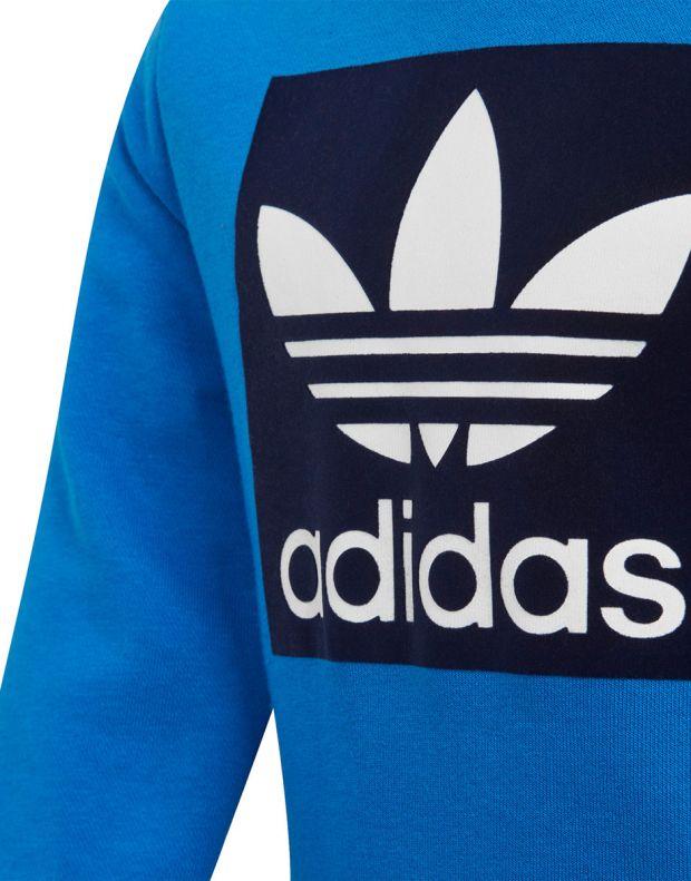 ADIDAS Trefoil Logo Sweatshirt Set Blue - ED7684 - 3