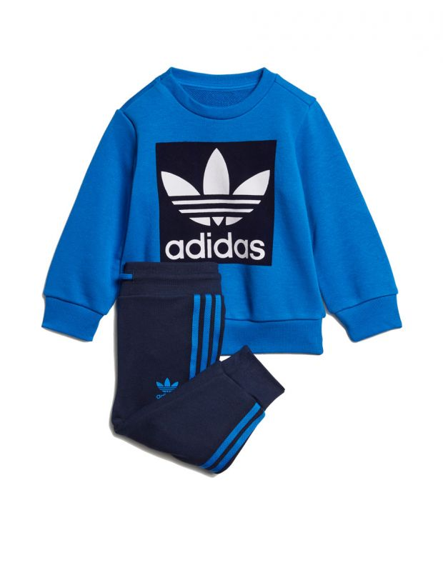 ADIDAS Trefoil Logo Sweatshirt Set Blue - ED7684 - 6