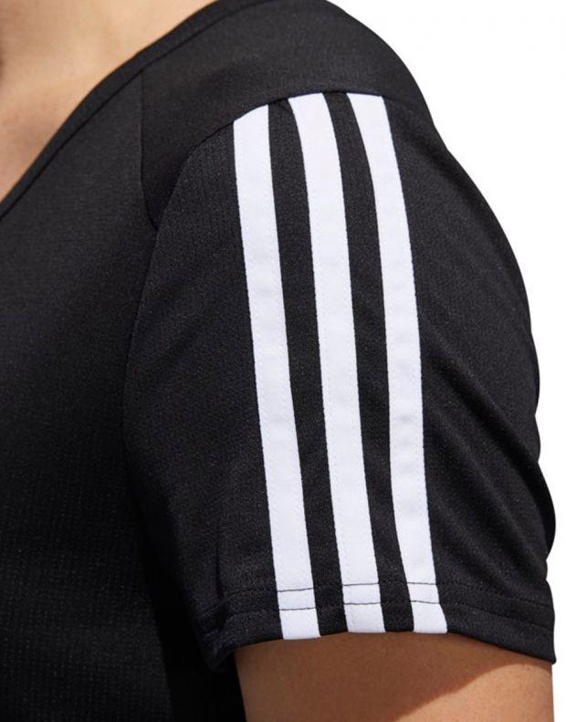 ADIDAS Running 3-Stripes Tee Black - CZ7569 - 4