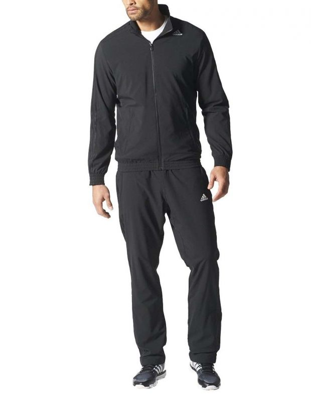 ADIDAS Woven Tracksuit Essential Climalite Black  - 1