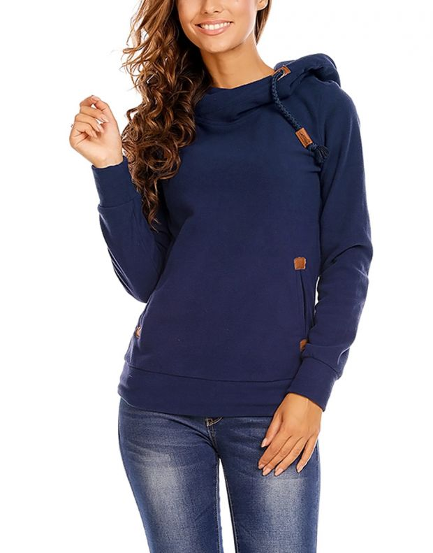 SUBLEVEL Bella Sweatshirt Blue - 4