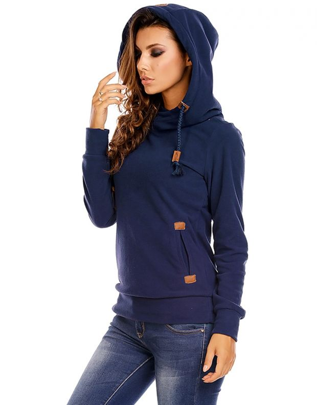 SUBLEVEL Bella Sweatshirt Blue - 3