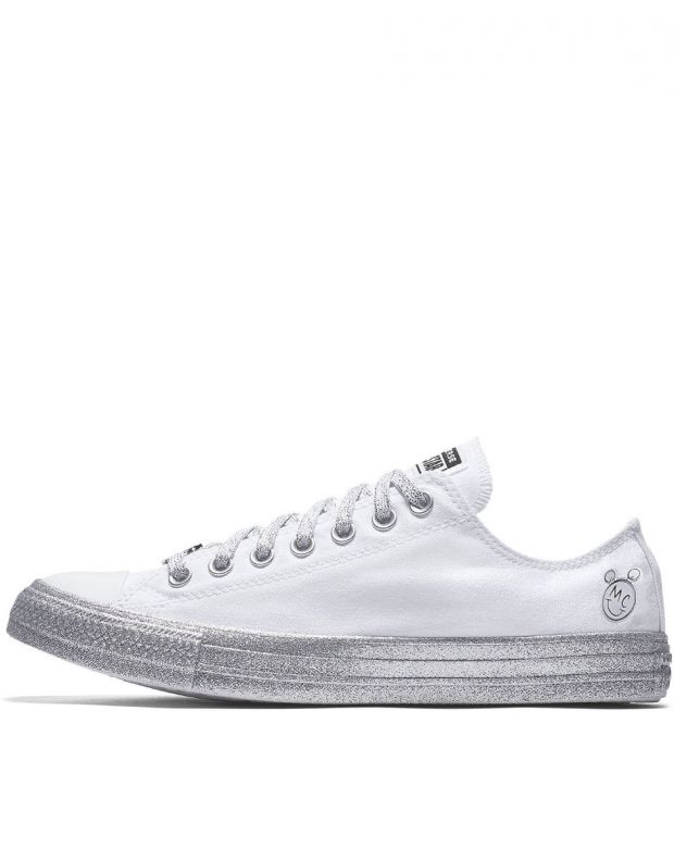 CONVERSE x Miley Cyrus Chuck Taylor All Star Low White/Grey - 162238C - 1