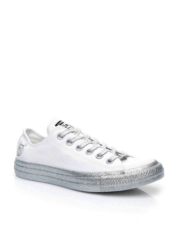 CONVERSE x Miley Cyrus Chuck Taylor All Star Low White/Grey - 162238C - 3