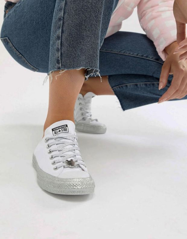 CONVERSE x Miley Cyrus Chuck Taylor All Star Low White/Grey - 162238C - 7