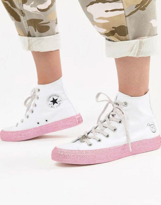 CONVERSE x Miley Cyrus Chuck Taylor All Star Hi White - 162239C - 8