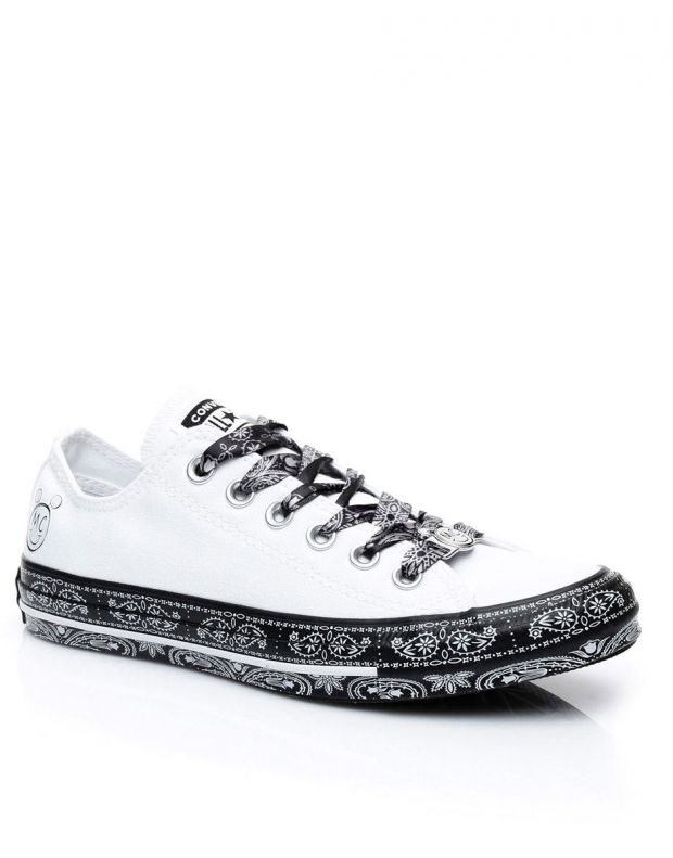 CONVERSE x Miley Cyrus Chuck Taylor All Star Low White/Black - 162235C - 3